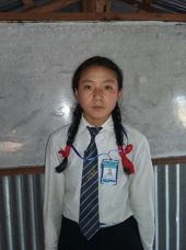 Suhmita Class 8 from Sotang sponsored student