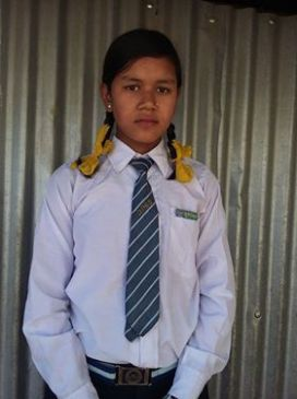 Tulasha Class 9 sponsored student in Sotang